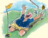 peter ruge golfcartoon