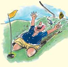 Peter Ruge Eugen Pletsch Golfcartoon