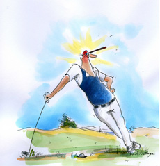 Golfbild Cartoon peter ruge